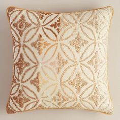 One of my favorite discoveries at WorldMarket.com: Natural Ombre Geometric Throw Pillow