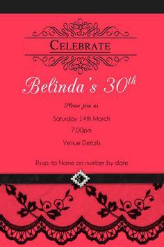 136 best adult birthday invitations party invitations images on ladies 30th birthday invitation sassy red filmwisefo