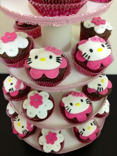 Hello kitty cupcakes from @odelyn via cakecentral