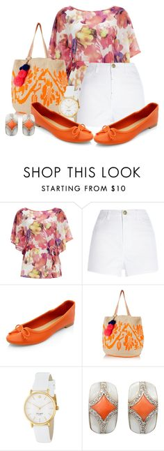 """Flats"" by samketina ❤ liked on Polyvore featuring Wallis, River Island, Sophie Anderson and Kate Spade"