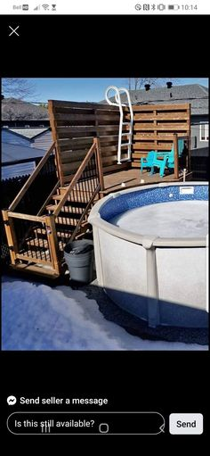 Above Ground Pool Landscaping, Above Ground Pool Decks, In Ground Pools, Swimming Pool Heaters, Swimming Pools Backyard, Decks Around Pools, Pool Deck Plans, Pool Steps, Pool Remodel