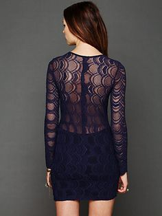 free people Deep V Long Sleeve Lace Dress dec 2012 freepeople.com
