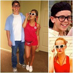 42 Halloween Costumes For Extremely Cute Couples Squints and Wendy Peffercorn from The Sandlot. More from my site DIY Funny, Clever and Unique Couples Halloween Costume Ideas 14 Affordable & Cute DIY Halloween Costumes for Couples Meme Costume, Sandlot Costume, Pun Costumes, Funny Couple Halloween Costumes, 90s Costume, College Couple Costumes, Couple Costume Ideas, Couple Outfits, Cute Couples Costumes