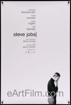 Happy Birthday #KateWinslet https://eartfilm.com/products/steve-jobs-2015-original-vintage-movie-poster #actors #acting #SteveJobs #Titanic #TheReader #MildredPierce  Steve Jobs 2015 27x41 One Sheet United States