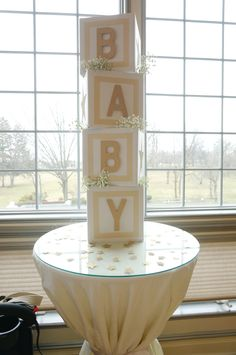 Step by Step DIY Letter Blocks - Twinkle Twinkle Little Star Baby Shower @ Made2style.com