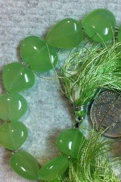 Sea Green Heart Shaped Chalcedony  FREE by MelOriginalIdeas, $6.00