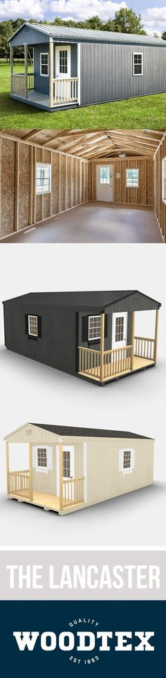The Lancaster Storage Shed   Woodtex - Design your own #storagesheddesigns