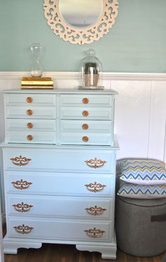 Bless{ed} Nest: {Grace: The Dresser} Lucky gal ....hubby does the work. Nice dresser but I want that MIRROR!