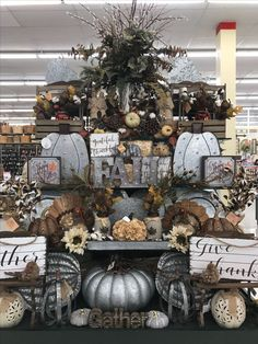 Color scheme for fall Thanksgiving Decorations, Seasonal Decor, Halloween Decorations, Fall Home Decor, Autumn Home, Hobby Lobby Decor, Autumn Display, Fall Displays, Store Displays