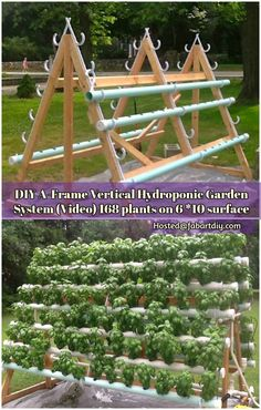 Shares This A-frame hydroponic garden system is a great project to createa…