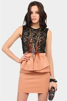 Lace peach dress