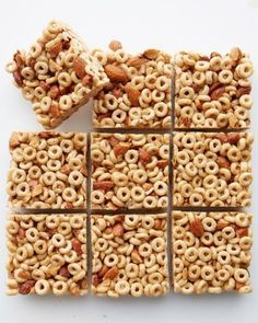 Make Dessert for Breakfast What's the perfect back-to-school dessert for every lunch box? Answer: these Honey Nut Cereal Bars! Crunchy, sweet, and so simple to make, these packable snacks require almost no cooking — just warm up a few ingredients on the stove and then let everything chill in the fridge. Chop, pack, and head out the door with your new favorite fall treat!