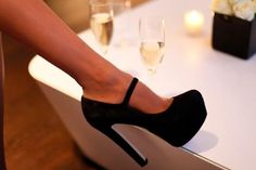 Obsessed! I have ones like these in patent leather but now I want suede!!