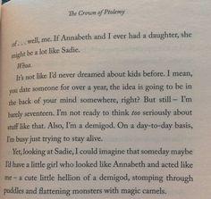 Ahhhhhhhhhhhhhhhhhh!!!!! The percabeth feels! X Thank you Rick Riordan! - extract from Crown of Ptolemy
