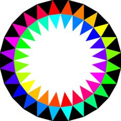 Rainbow Colors clip art - vector clip art online, royalty free ...