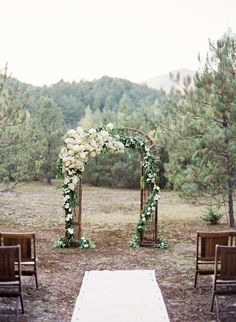 rustic Wedding aisle flower décor, wedding ceremony flowers, pew flowers, wedding flowers, add pic source on comment and we will update it. www.myfloweraffair.com can create this beautiful wedding flower look.