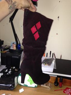 Harley Quinn Custome Cosplay Heels boots Costume by LadyAgonist, £35.00