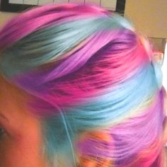 Colorful hair!