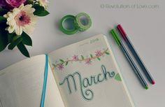 RevolutionofLove.com - Bullet Journal Spring Update //bujo_title_march
