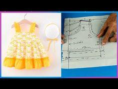 VESTIDO de niñas paso a paso tutorial de costura - YouTube Pattern Making, Sewing Hacks, Frocks, Baby Dress, Baby Shower, Summer Dresses, How To Make, Youtube, Fashion