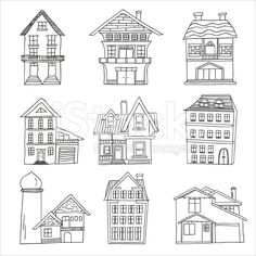 House Collection royalty-free stock vector art