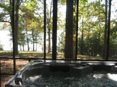 Take in the view while relaxing in the outdoor hot tub.