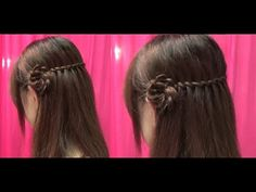 Cute flower hairstyle- YouTube