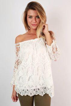Off shoulder top lace