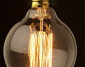 1 Antique vintage edison style light bulb 40w 110-220v radiolight Large G95II squirrel cage special