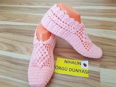 How to Crochet Pretty Slippers – Step By Step - Design Peak Crochet Slipper Pattern, Crochet Poncho Patterns, Knitted Slippers, Crochet Slippers, Tunisian Crochet, Bridal Shoes, Sock Shoes, Crochet Clothes, Crochet Flowers