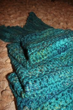CREDIT - MadebyMarcie Custom handmade crochet mermaid tail blanket @homemadebymarcie