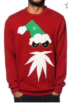f341e1fe31 Volcom Christmas Sweater Santa Face