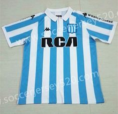 2018-19 Racing Club de Avellaneda Home Blue White Thailand Soccer Jersey AAA 830a6fe61