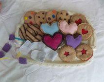 Felt Cookies and Tea Bag set (large)