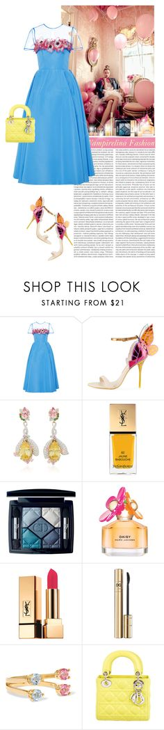 """""""May the good times and the treasures of the present Become golden memories of tomorrow. Wish you lots of love, joy & happiness~"""" by vampirelina ❤ liked on Polyvore featuring Carolina Herrera, Sophia Webster, Anabela Chan, Yves Saint Laurent, Christian Dior, Marc Jacobs and D&G"""
