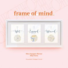 FRAMED Met, Engaged, Married / Personalised map love story Engagement / Anniversary / Wedding gift for Couple Engagement Gifts For Couples, Engagement Decorations, 25th Anniversary Gifts, Framed Maps, Great Wedding Gifts, Wedding Paper, Couple Gifts, Boyfriend Gifts, Valentine Gifts