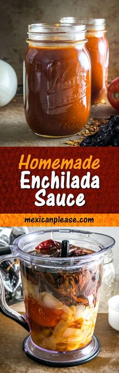 This is the enchilada sauce that I always come back to. I used all Anchos for this batch but there is some leeway on the chili peppers -- you could add in Guajillos or New Mexicans if you have some on hand.  #enchiladas mexicanplease.com