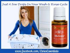 Young Living Melrose Essential Oil in either or both the detergent and rinse cycles cleans safer than bleach.