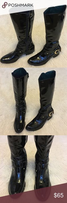 Sam Edelman Kailee riding Black leather boots 9M EUC no rips or stains, no scuffin, size 9M, Sam Edelman Shoes Winter & Rain Boots