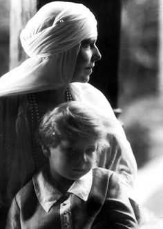 Michael I of Romania and his paternal grandmother, Queen Marie of Romania. Romanian Royal Family, Greek Royal Family, Michael I Of Romania, History Of Romania, Bourbon, Royal Families Of Europe, Princess Alexandra, Rare Pictures, Women In History