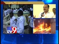 TRS activists burn Chandrababu's effigy, attack TDP offices