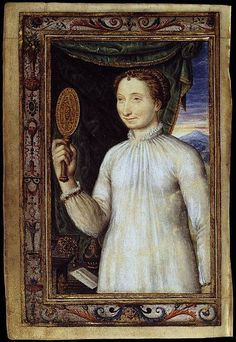 Marguerite d'Angouleme, Queen of Navarre, from the Book of Hours of Catherine de' Medici (1572-1575).