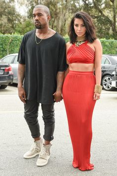 """February 7th: Kim Kardashian and Kanye West Kim at the Roc Nation Pre-"