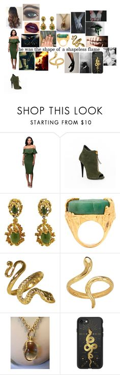 """""""Norse mythology ~ Loki"""" by rosemarieyoung ❤ liked on Polyvore featuring Yves Saint Laurent, Madina Visconti di Modrone and Casetify"""