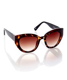 Look what I found on #zulily! Tortoise Thick-Frame Sunglasses by Cole Haan #zulilyfinds