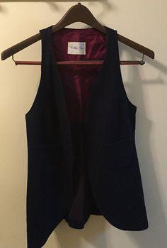 Vintage Wool College Town of Boston Vest by SCFinds on Etsy