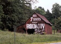 Lists of Rock City barns at this site.