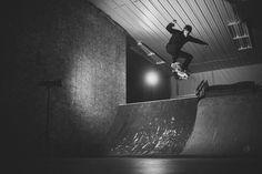 Team rider @brad.giesbrecht testing out the new shop decks.  @wiebedalke #skateboarding #skateboard #workskateandlifestyle