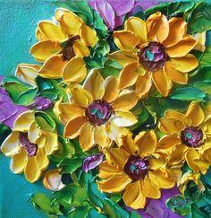 Oil Painting Impasto Painting Yellow by IronsideImpastos on Etsy,
