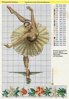Ballet dancer x-stitch pattern Cross Stitch Music, Cross Stitch Rose, Cross Stitch Baby, Cross Stitch Alphabet, Modern Cross Stitch, Cross Stitch Kits, Cross Stitch Charts, Cross Stitch Designs, Cross Stitch Patterns